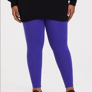 Torrid cobalt blue full length leggings.